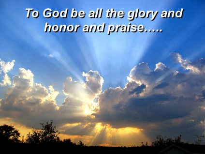 Image result for to god be the glory