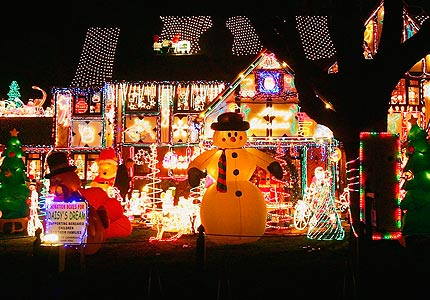 Image result for House decorated for Christmas